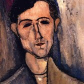 Amedeo Modigliani - Man_s Head _aka Portrait of a Poet_